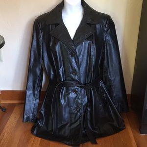 VTG Montgomery Ward Black Leather Jacket